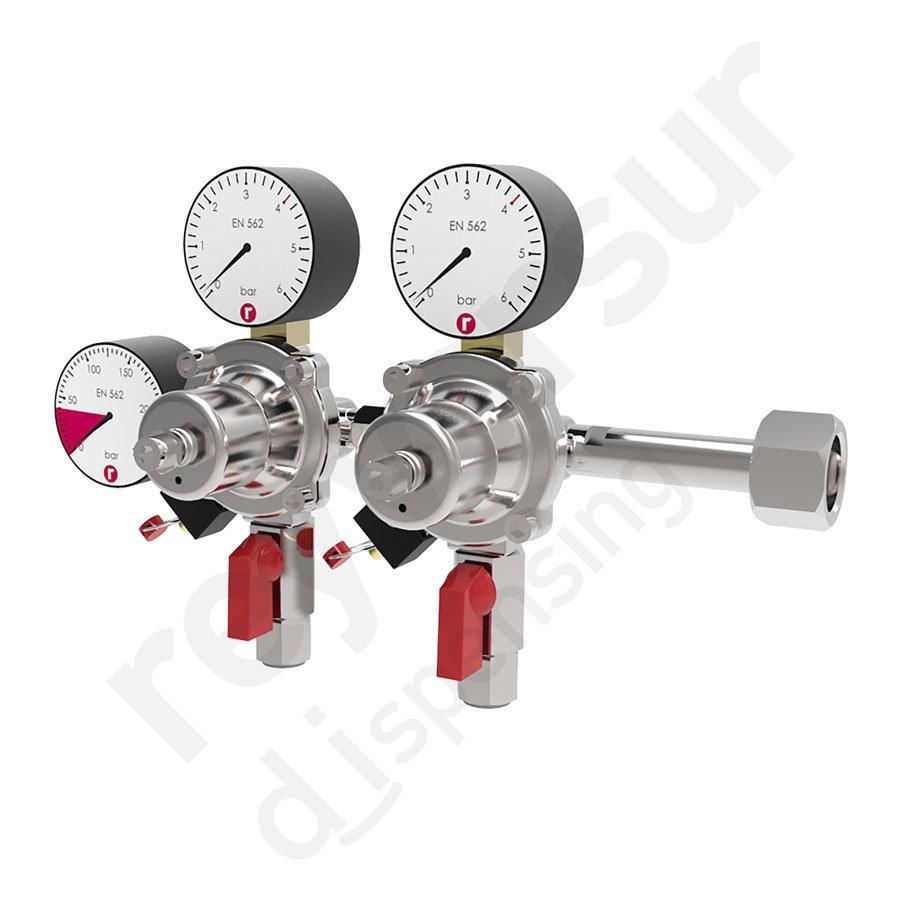 Reyvarsur reyvarsur regulador de presi n doble dos - Regulador de gas ...
